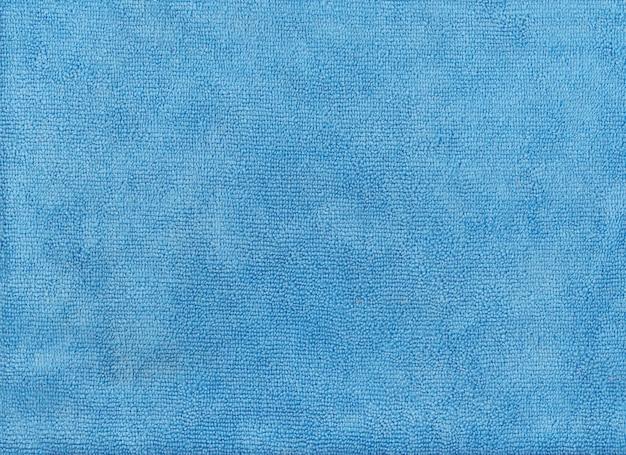 Textura de pano azul de tecido de microfibra.