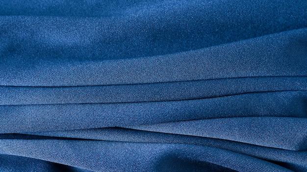 Textura de pano de fundo de tecido azul