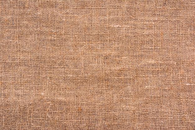 Textura de pano de saco, tecido natural feito de juta ou cânhamo
