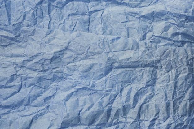 Textura de papel amassado azul
