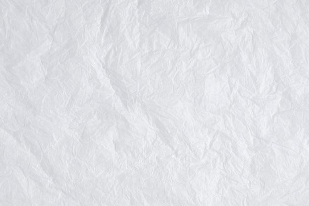 Textura de papel amassado branco camada plana