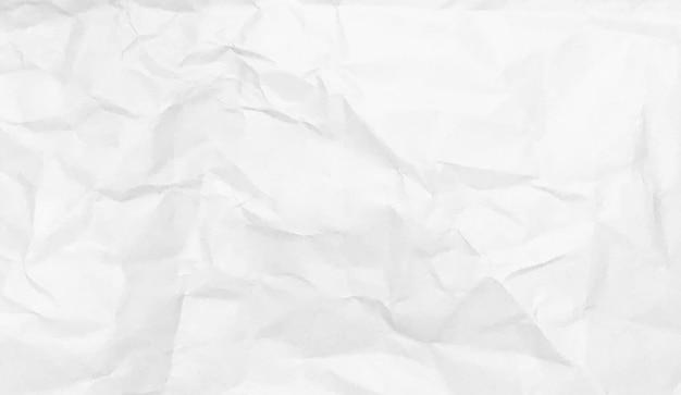 Textura de papel amassado branco fundo design espaço tom branco