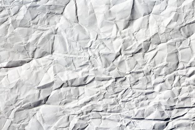 Textura de papel amassado branco