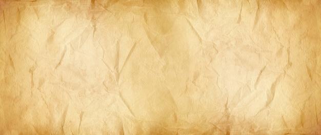 Textura de papel amassado marrom velho