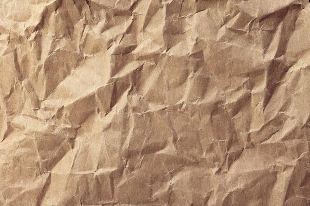 Textura de papel amassado ou fundo de papelão