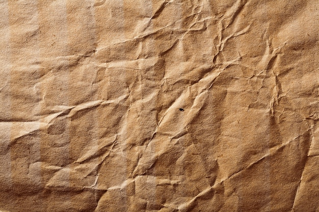 Textura de papel amassado velha