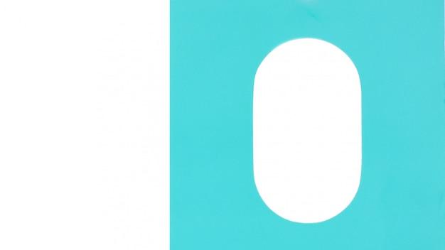 Textura de papel azul e um fundo branco oval em branco