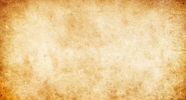 Textura de papel bege antigo com manchas e listras, material retro antigo vazio com uma cópia do espaço