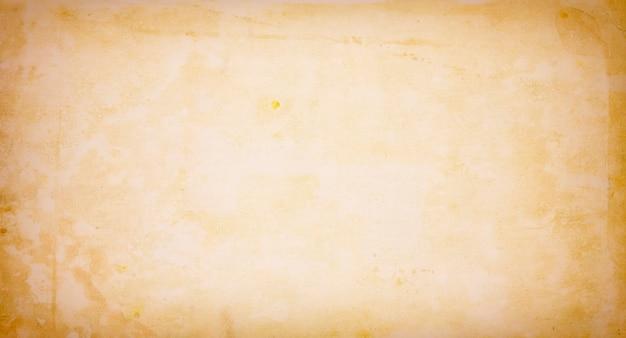 Textura de papel bege de fundo antigo envelhecido, em branco, espaço de texto marrom, textura