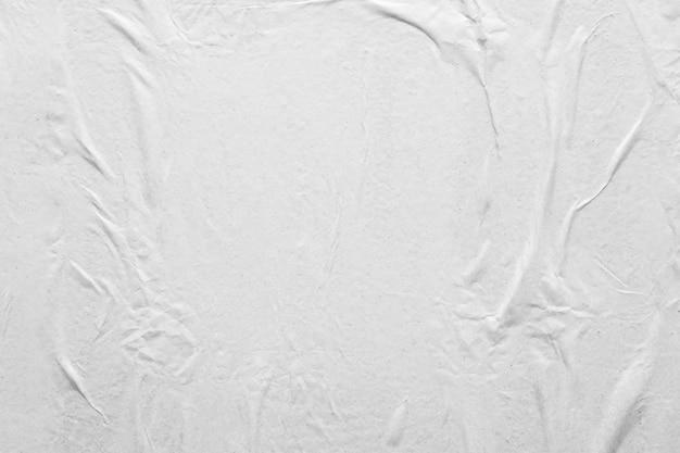 Textura de papel branco amassado e amassado