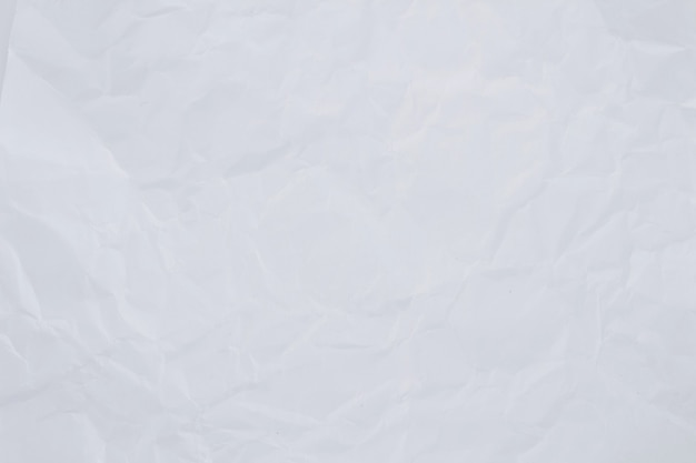 Textura de papel branco amassado para plano de fundo
