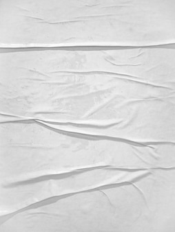 Textura de papel branco em branco colada na parede
