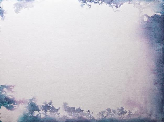 Textura de papel branco velho, fundo amassado. superfície de grunge marfim vintage com moldura roxa e azul.