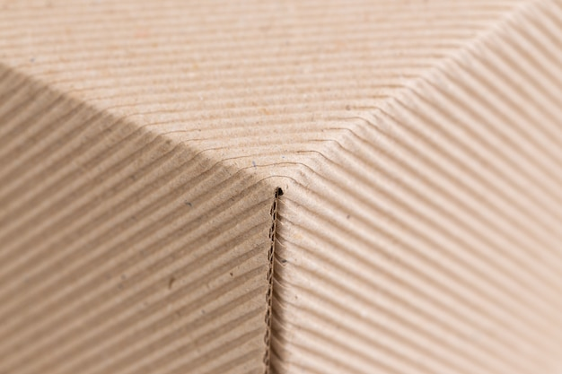 Textura de papel corrugado marrom