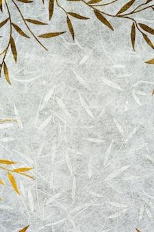 Textura de papel de amoreira com folha de ouro e prata