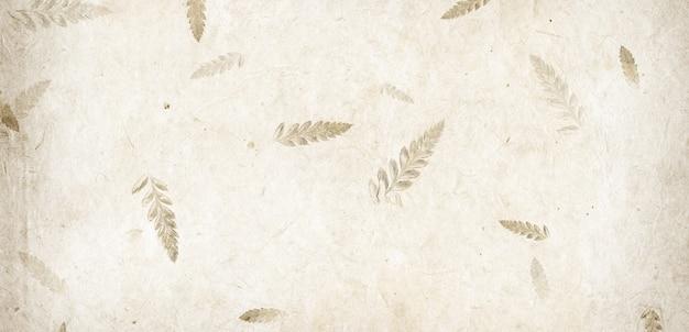 Textura de papel de pétala de flor feita à mão