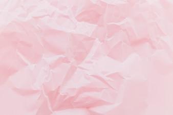 Textura de papel enrugada rosa