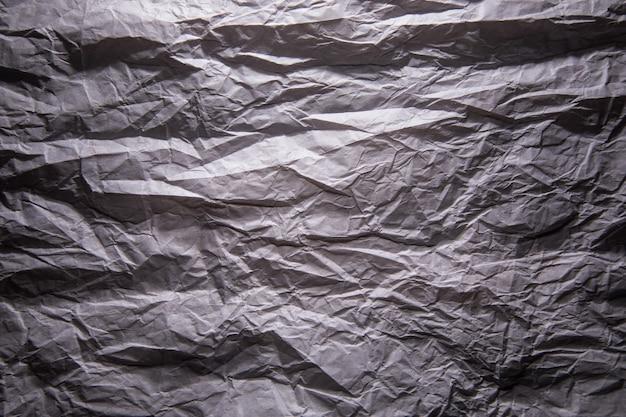 Textura de papel kraft cinza amassado