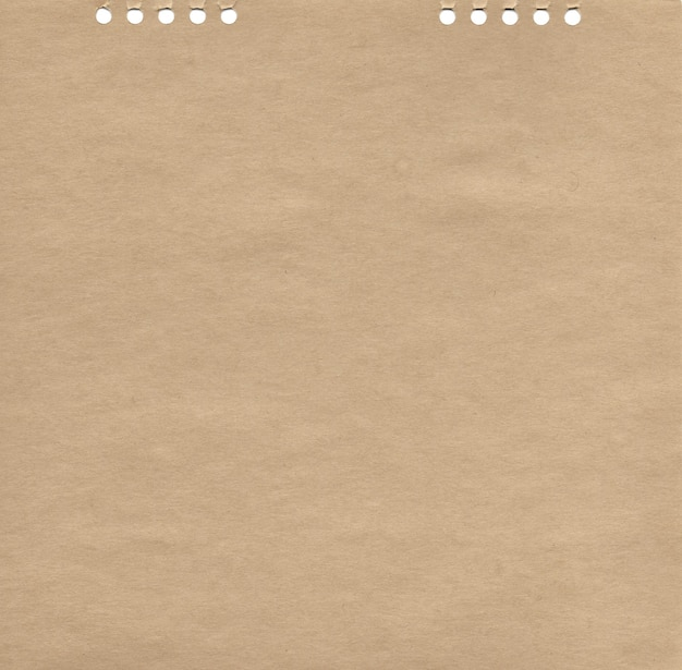 Textura de papel kraft com buracos fundo natural abstrato marrom em branco ilustração de superfície áspera