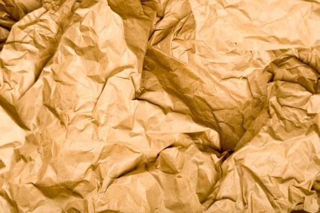 Textura de papel kraft enrugada