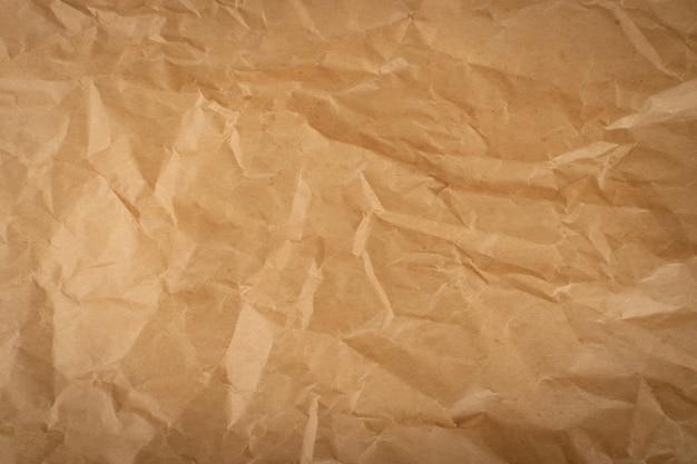 Textura de papel kraft enrugada.