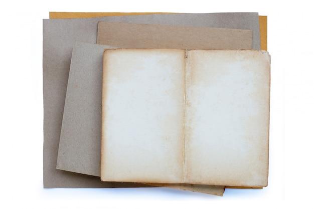 Textura de papel marrom vintage vazio velho.