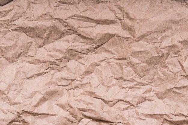 Textura de papel ofício amassado marrom, plano de fundo
