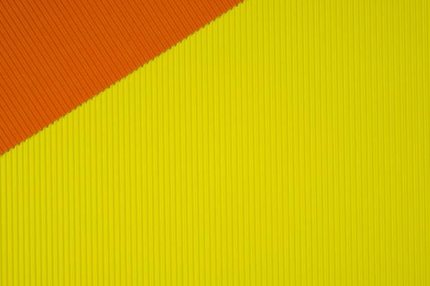 Textura de papel ondulado amarelo e laranja