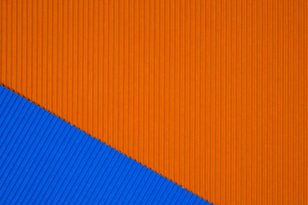 Textura de papel ondulado azul e laranja