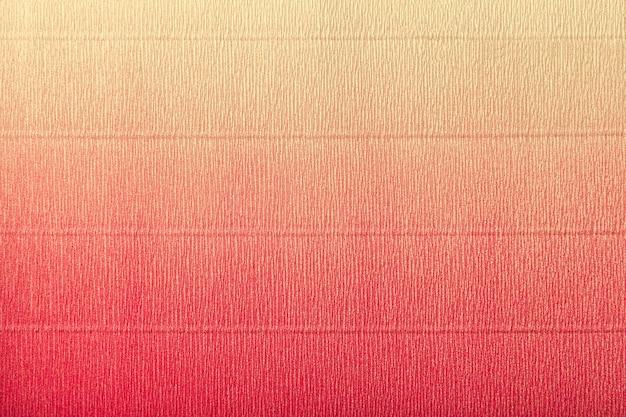 Textura de papel ondulado vermelho e amarelo com gradiente