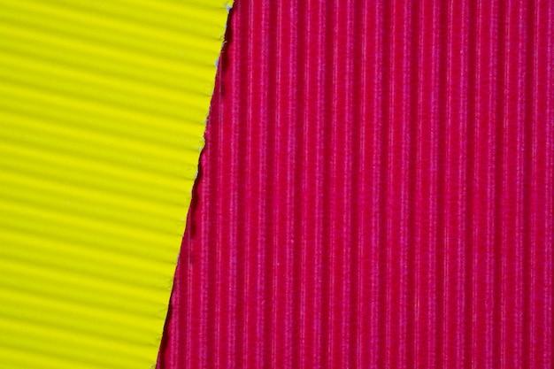 Textura de papel ondulado vermelho e amarelo