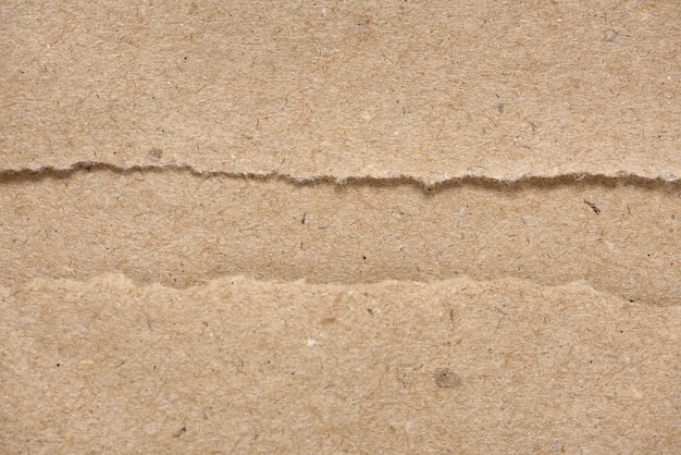 Textura de papel rasgado artesanal marrom
