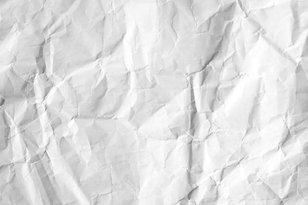 Textura de papel reciclado amassada branca