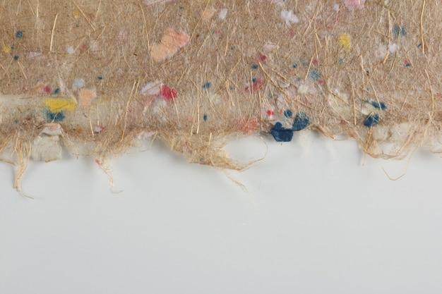 Textura de papel reciclado artesanal. espaço em branco da cópia.