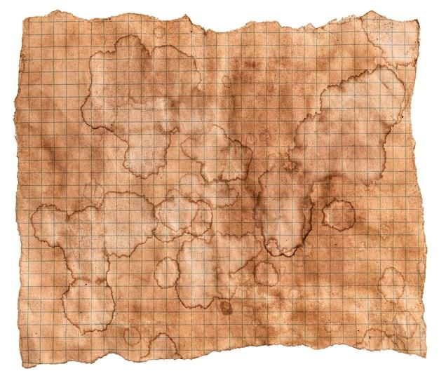 Textura de papel velha, fundo de papel vintage, papel antigo com manchas de café marrom