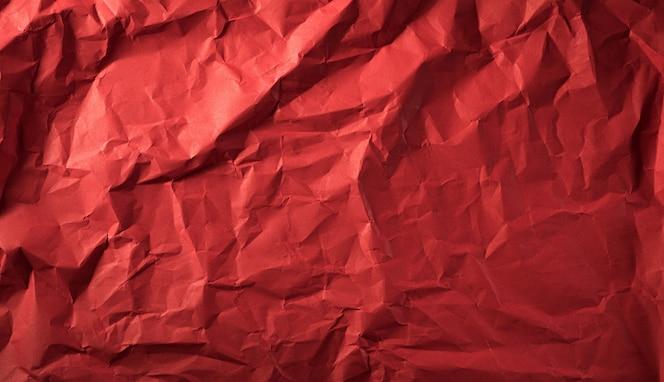 Textura de papel vermelho amassado