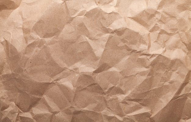 Textura de papelão marrom amarrotado