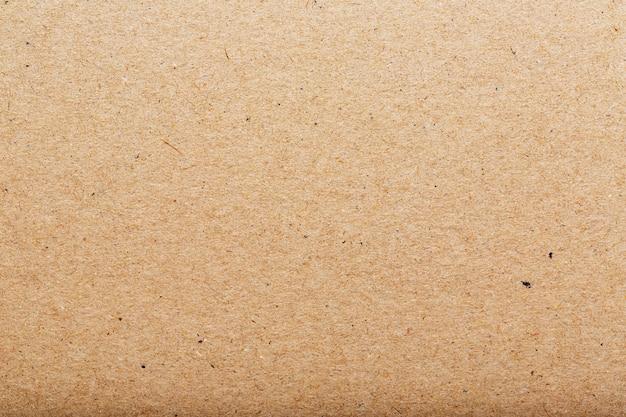 Textura de papelão marrom de uma página em branco. como pano de fundo