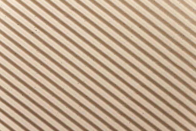 Textura de papelão ondulada marrom para plano de fundo