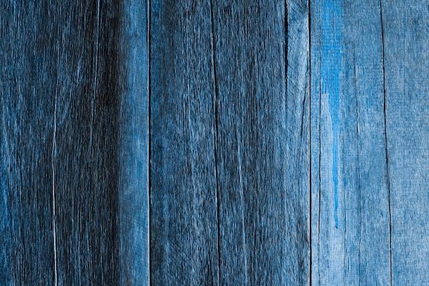 Textura de parede de madeira azul escura