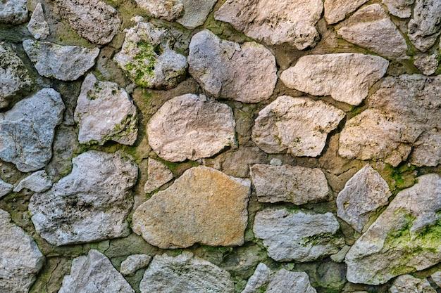 Textura de parede de pedra de rocha antiga