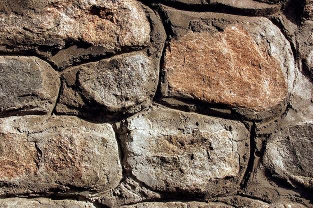 Textura de parede de pedra em close-up