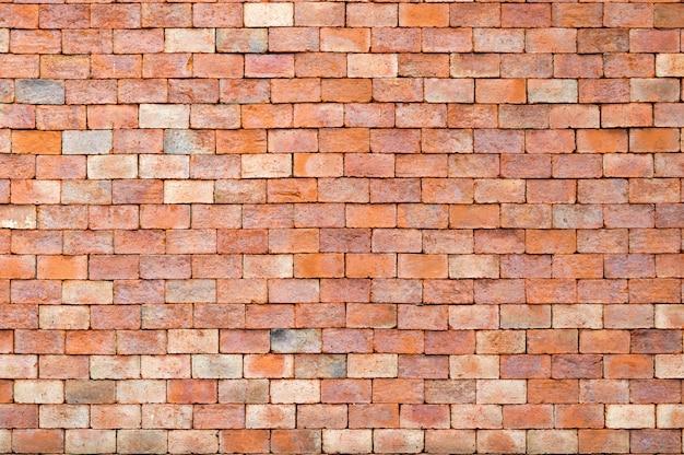 Textura de parede de tijolo e fundo de tijolo vermelho com espaço de cópia