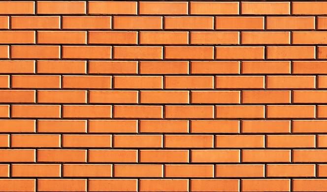 Textura de parede de tijolo parede de tijolo liso novo.