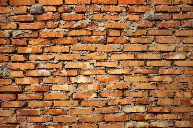 Textura de parede de tijolo vermelho velho