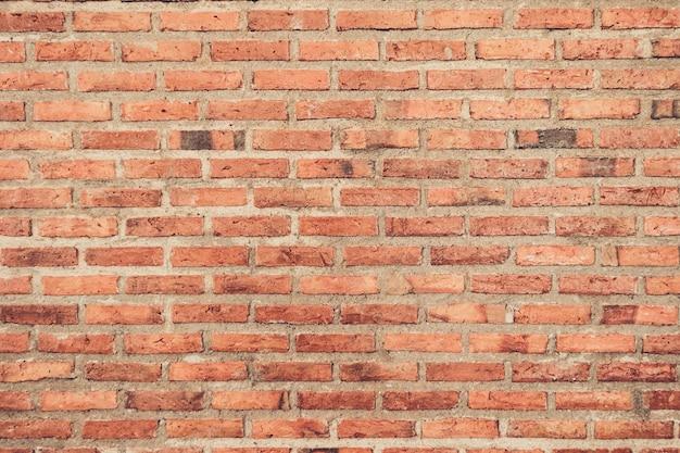 Textura de parede de tijolo vermelho vintage retrô grunge