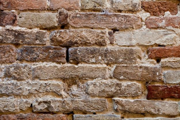 Textura de parede de tijolos antigos.
