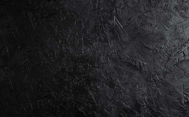 Textura de pedra preta, fundo escuro ardósia, vista superior