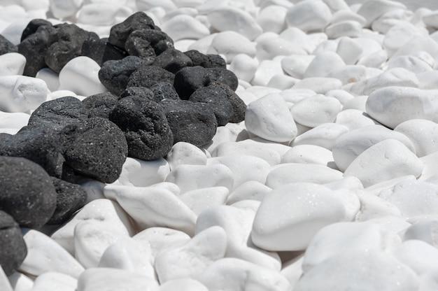 Textura de pedra preto e branca