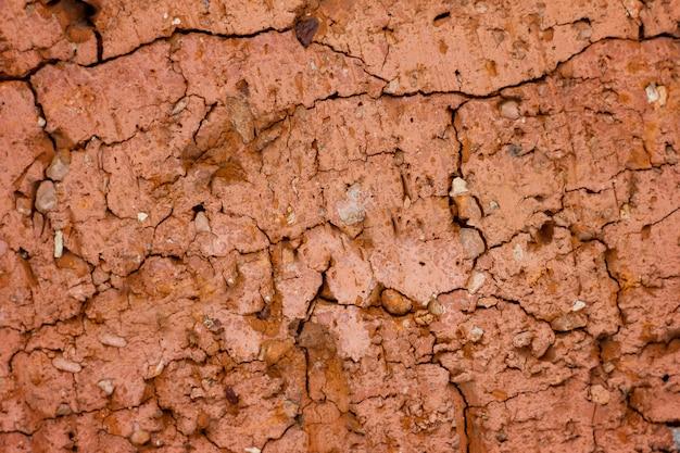 Textura de pedra vermelha quebrada
